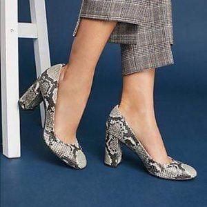 Sarto by Franco Sarto Aziza Snake-Printed Heels